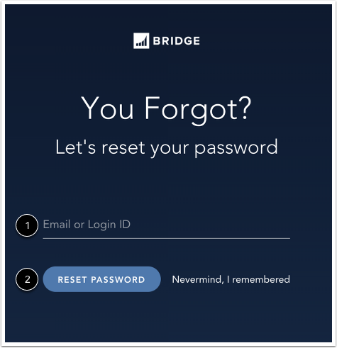Réinitialiser le mot de passe