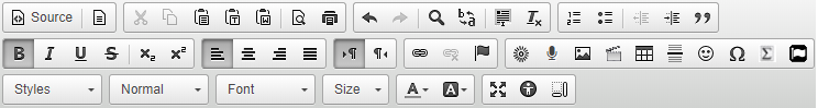 Navigate within the Editor toolbar