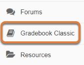 Go to the Gradebook.