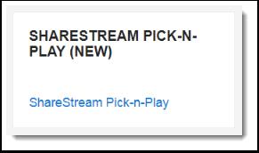 sharestream pick-n-play block