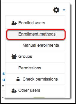 Enrollment methods link is selected.