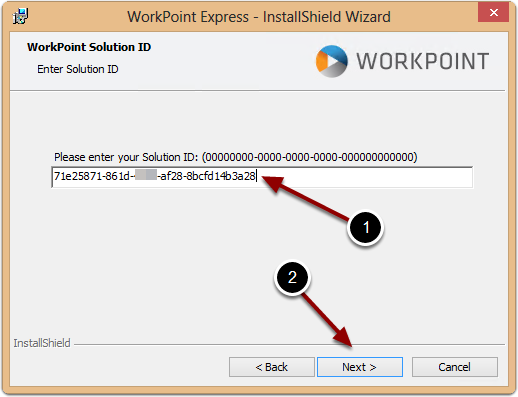 Inserting the WorkPoint Solution ID