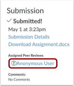 View Anonymous Peer Reviews
