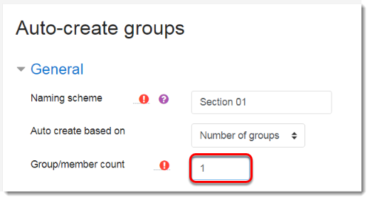 Group/member count field is selected.