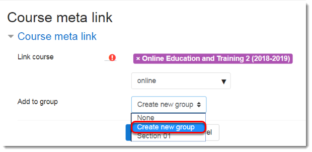Create new group is selected.