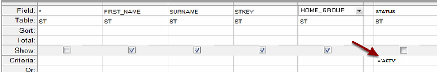 Step 6: Select Only the Active Students