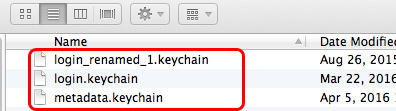 Delete the Keychains