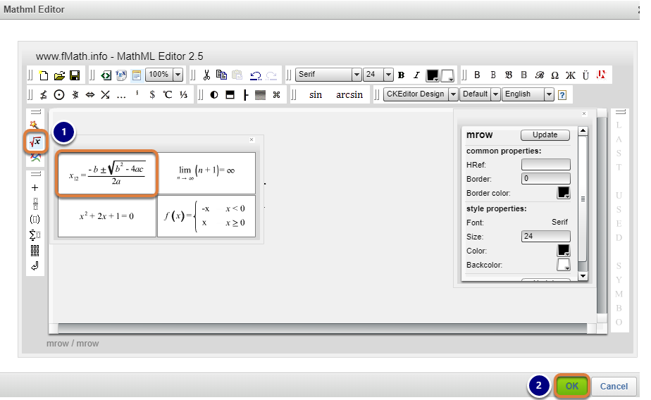 How Do I Add Mathematical Notation In The Rich Text Editor For