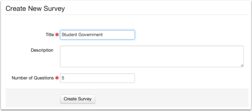 Create a New Survey