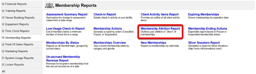 Membership Attrition Report