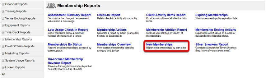 New Memberships