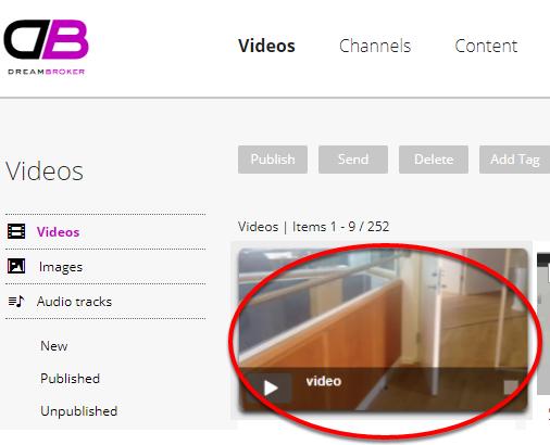 Så er video-filen uploadet