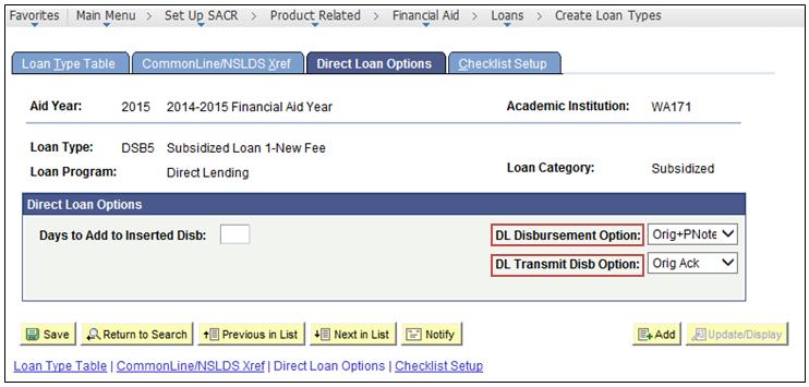 direct loan options