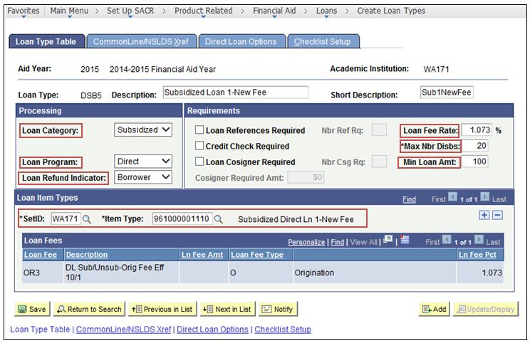 create loan types