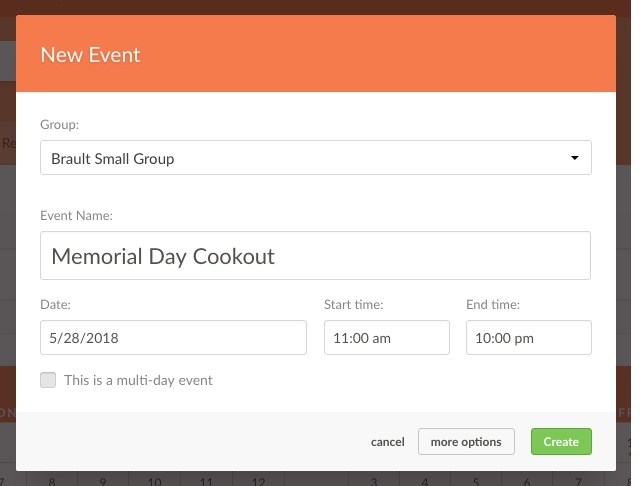add information about event