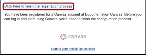 Fullfør registreringsprosessen