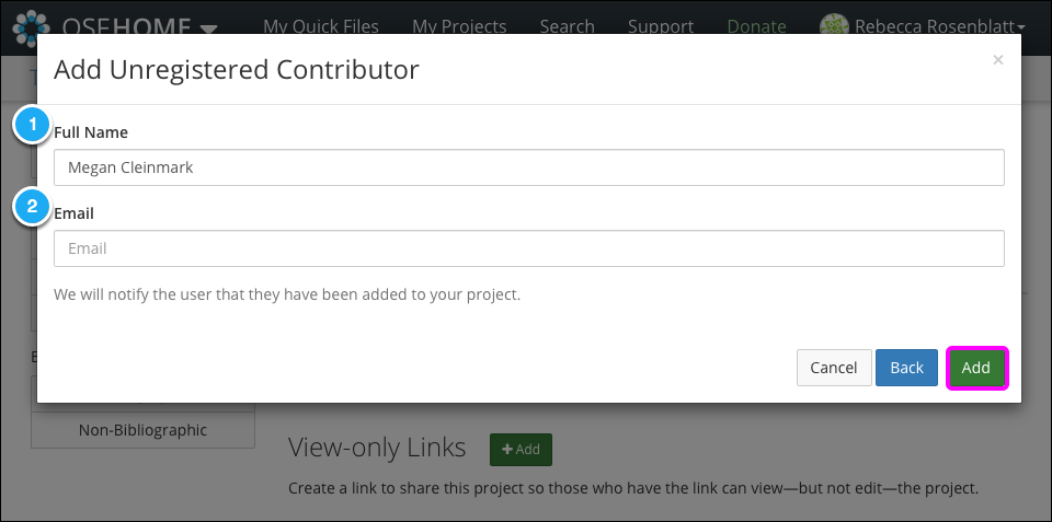 Add Unregistered Contributor II