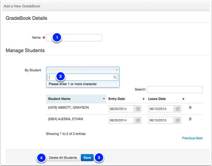 Creating Your Gradebook