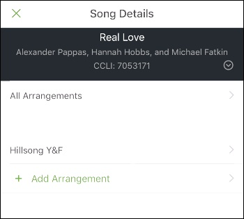 song details