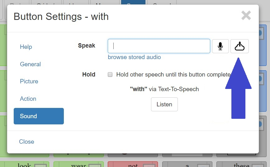 How can I add my own audio to a speech button? – CoughDrop