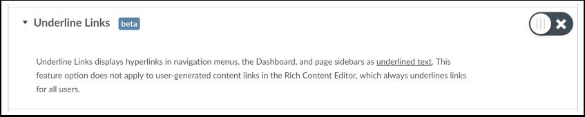 Underline Links