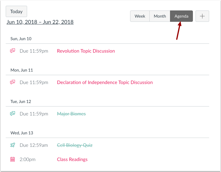 Visualizar Agenda de Calendário