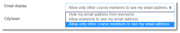 Allow only other course members is selected.