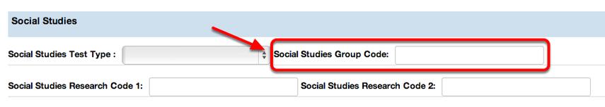 Social Studies Test Code