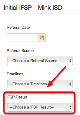 Result of Initial IFSP