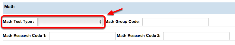 Math Test Type