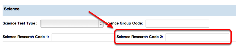 Science Research Code 2