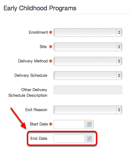 EC Program End Date