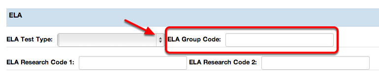ELA Group Code