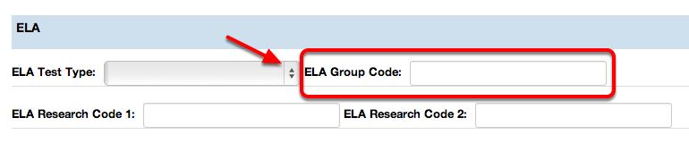 ELA Group Code
