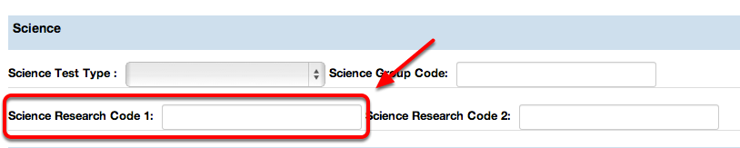 Science Research Code 1