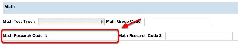 Math Research Code 1
