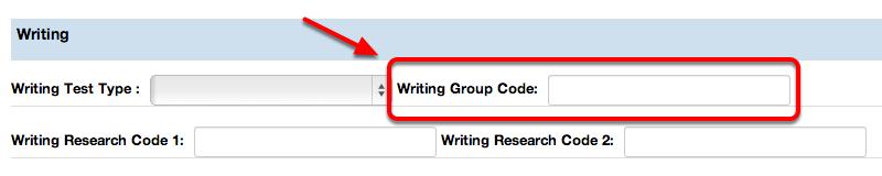 Writing Group Code