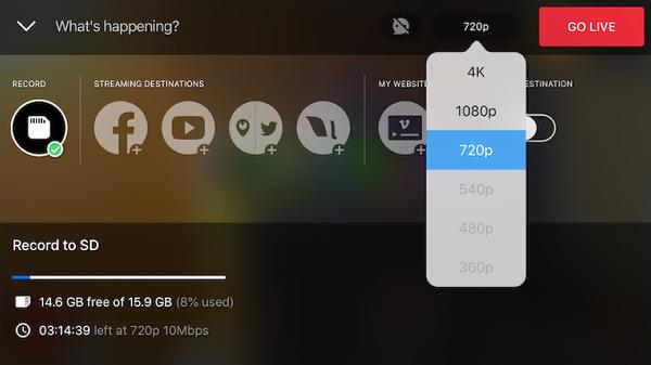 MicroSD Card Recording Capacity – Mevo Camera
