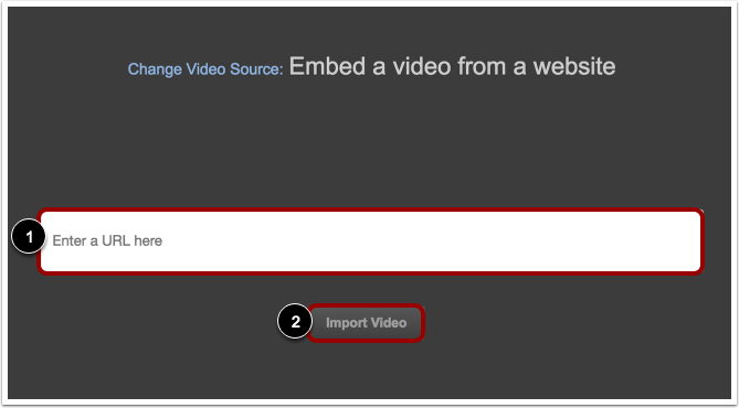 Embed Video from the Web