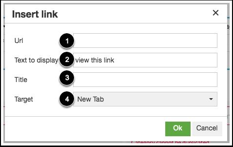 Enter Link Details