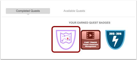 View Quest Badge