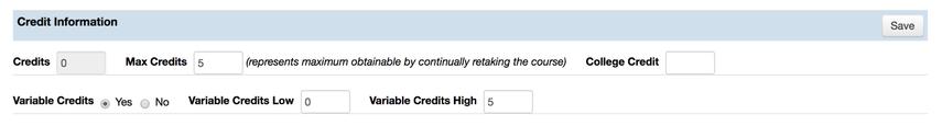Credit Information