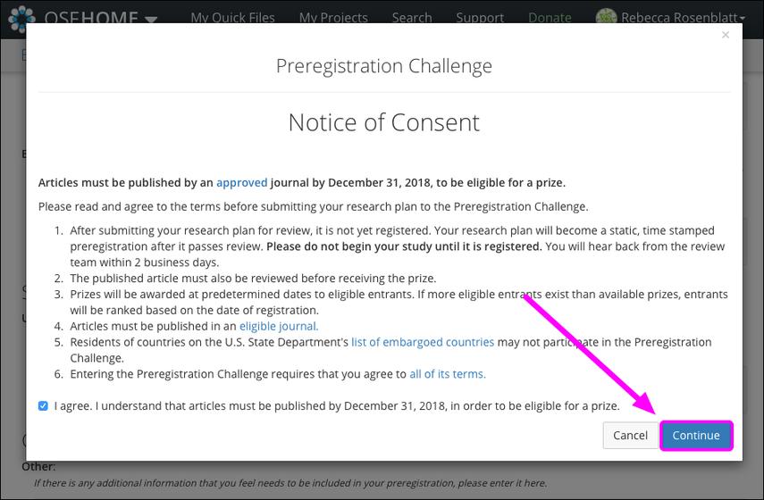 Notice of Consent