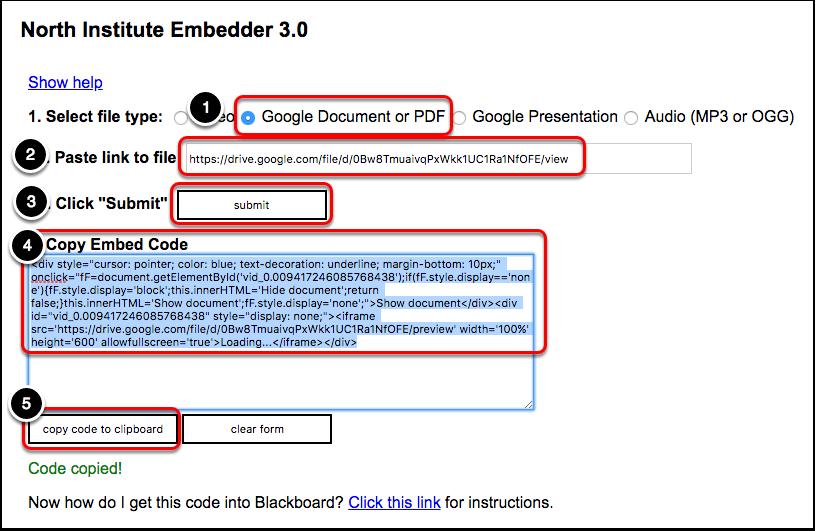 PDF's - Embed in Blackboard Using NI Embedder – Oklahoma Christian