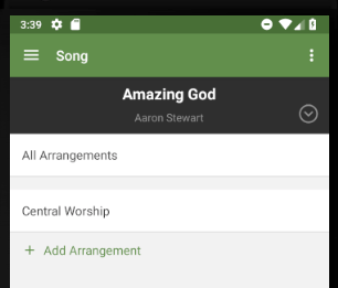 Song arrangements