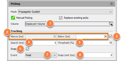 Manually pick a horizon - propagator guided mode