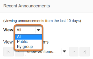 Customize announcements display. (Optional)