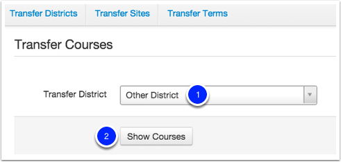 Transfer Courses