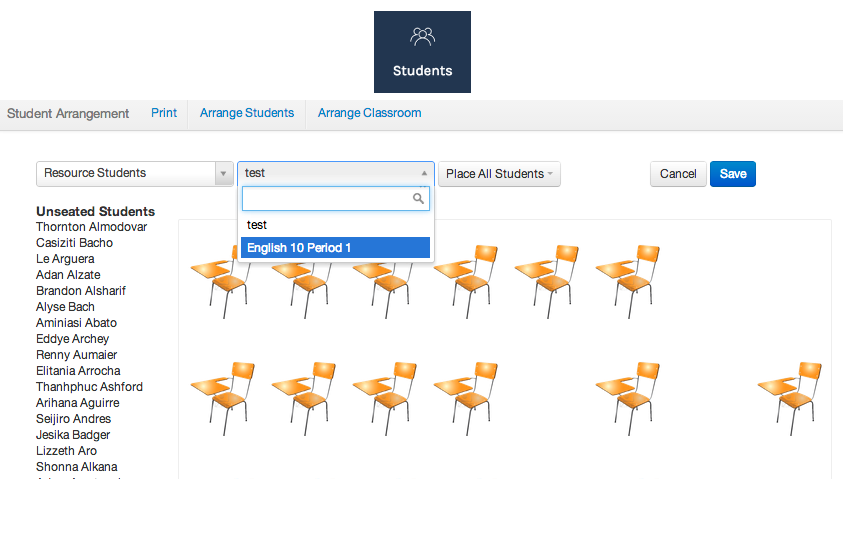 Add And Edit Students On A Seating Chart Illuminate Education