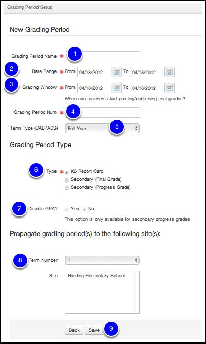 Create Grading Periods